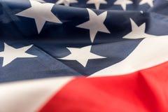 Nahaufnahme der amerikanischen Flagge Stockbild