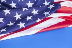 Nahaufnahme der amerikanischer Flagge Stockbild