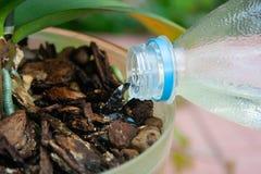 Nahaufnahme der Bewässerungsanlage lizenzfreies stockfoto