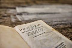 Nahaufnahme der Bibel Lizenzfreies Stockbild