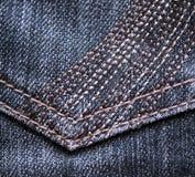 Nahaufnahme der Blue Jeansbeschaffenheit Lizenzfreies Stockfoto