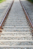 Nahaufnahme der Eisenbahn Stockfotografie