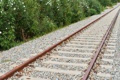 Nahaufnahme der Eisenbahn Stockbild