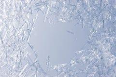 Nahaufnahme der Eiskristalle Stockfotografie