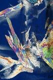 Nahaufnahme der Eiskristalle Stockfoto