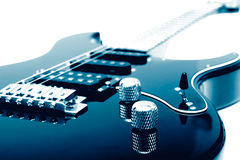 Nahaufnahme der elektrischen Gitarre Lizenzfreies Stockbild
