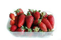 Nahaufnahme der Erdbeeren Stockbild