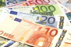 Nahaufnahme der Eurobanknoten Lizenzfreie Stockfotos
