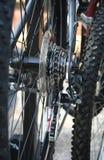 Nahaufnahme der Fahrrad-Gänge Stockbild