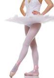 Nahaufnahme der Fahrwerkbeine eines Balletttänzers. lizenzfreie stockfotografie
