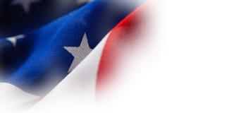 Nahaufnahme der geknitterten Staatsflagge Lizenzfreie Stockfotos