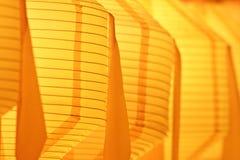 Nahaufnahme der gelben Papierlaterne Lizenzfreie Stockfotografie