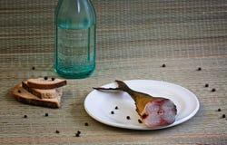 Nahaufnahme der geräucherten Makrele Stockbilder