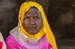 Nahaufnahme der Greisin bei Kumbhalgah in Rajasthan Indien Lizenzfreie Stockfotografie