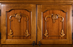 Nahaufnahme der hölzernen Türen Stockbilder