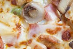 Nahaufnahme der hawaiischen Pizza Stockfoto
