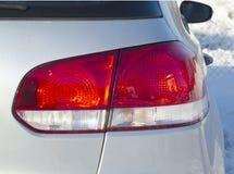 Nahaufnahme der hinteren Leuchte des Autos Stockfoto