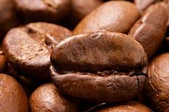 Nahaufnahme der Kaffeebohnen Lizenzfreies Stockbild