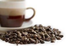 Nahaufnahme der Kaffeebohnen Lizenzfreies Stockfoto