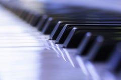 Nahaufnahme der Klaviertasten Lizenzfreies Stockbild