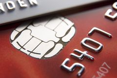 Nahaufnahme der Kreditkarten lizenzfreie stockfotografie