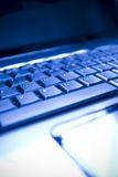 Nahaufnahme der Laptoptastatur Stockbilder
