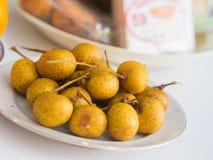 Nahaufnahme der Longan-Frucht Stockfotos