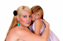 Nahaufnahme der Mutter und der Tochter Stockfotos