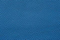 Nahaufnahme der nahtlosen blauen ledernen Beschaffenheit Lizenzfreie Stockfotos