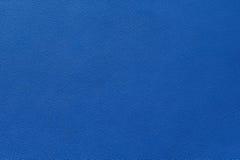 Nahaufnahme der nahtlosen blauen ledernen Beschaffenheit Lizenzfreies Stockfoto