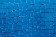 Nahaufnahme der nahtlosen blauen ledernen Beschaffenheit Lizenzfreie Stockbilder