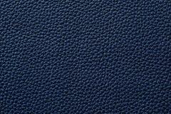 Nahaufnahme der nahtlosen blauen ledernen Beschaffenheit Stockfotografie