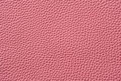 Nahaufnahme der nahtlosen rosa ledernen Beschaffenheit Lizenzfreies Stockbild