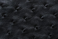 Nahaufnahme der nahtlosen schwarzen ledernen Beschaffenheit Stockfotografie