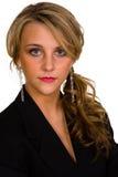 Nahaufnahme der reizvollen Blondine Lizenzfreie Stockfotos