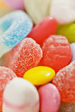Nahaufnahme der Süßigkeit Stockbilder
