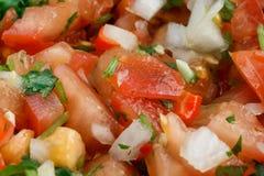 Nahaufnahme der Salsa Pico de Gallo stockfotos