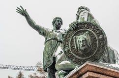 Nahaufnahme der Skulptur nahe St. Basil Cathedral in Moskau, Russland Stockfoto