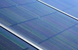 Nahaufnahme der Sonnenkollektoren Stockfotos