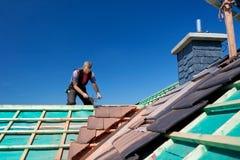 Nahaufnahme der Strahlen des Dachs Stockbilder