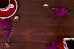 Nahaufnahme der Tasse Tee Stockfoto