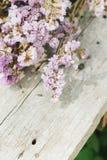 Nahaufnahme der trockenen Blumenzusammensetzung Stockfotografie
