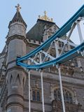 Nahaufnahme der Turm-Br?cke an der D?mmerung, London, Gro?britannien lizenzfreie stockfotos