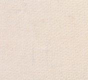 Nahaufnahme der weißen natürlichen Leinenstruktur. Stockfoto