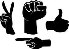 Nahaufnahme der weiblichen Hand gestikulierend, während Sie auf Weiß lokalisiert werden Lizenzfreie Stockfotografie