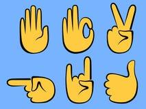 Nahaufnahme der weiblichen Hand gestikulierend, während Sie auf Weiß lokalisiert werden Stockfoto