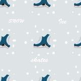 Nahaufnahme der weiblichen Handholding-Eisrochen draußen mit Schnee und Eis im Hintergrund Stockfoto