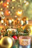 Nahaufnahme der Weihnachtsdekoration. lizenzfreie stockfotos