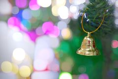 Nahaufnahme der Weihnachtsglocke Lizenzfreies Stockbild