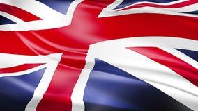 Nahaufnahme der wellenartig bewegenden Flagge von Union Jack, Flagge britischen Englands, Vereinigtes Königreich stock video
